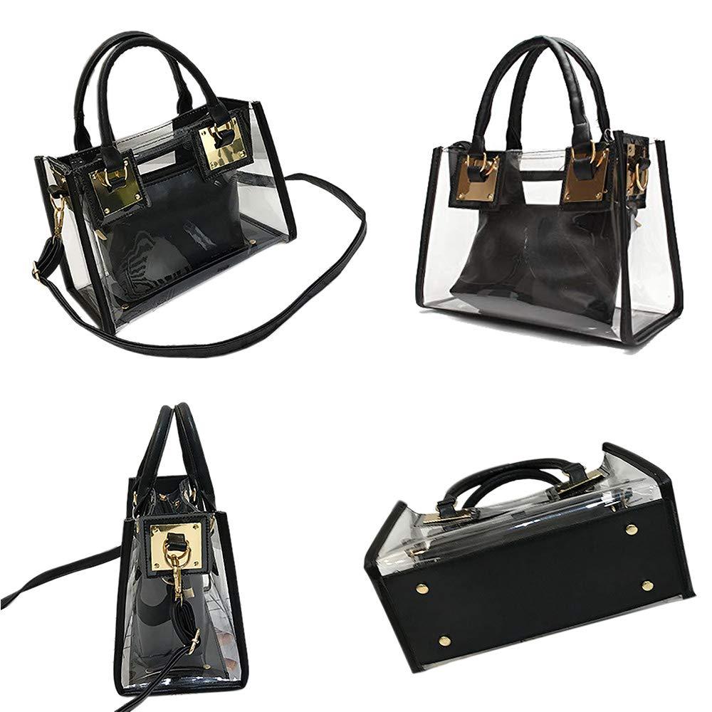 Opromo Clear Crossbody Handbags Waterproof Clear Shoulder Bag Transparent Purse