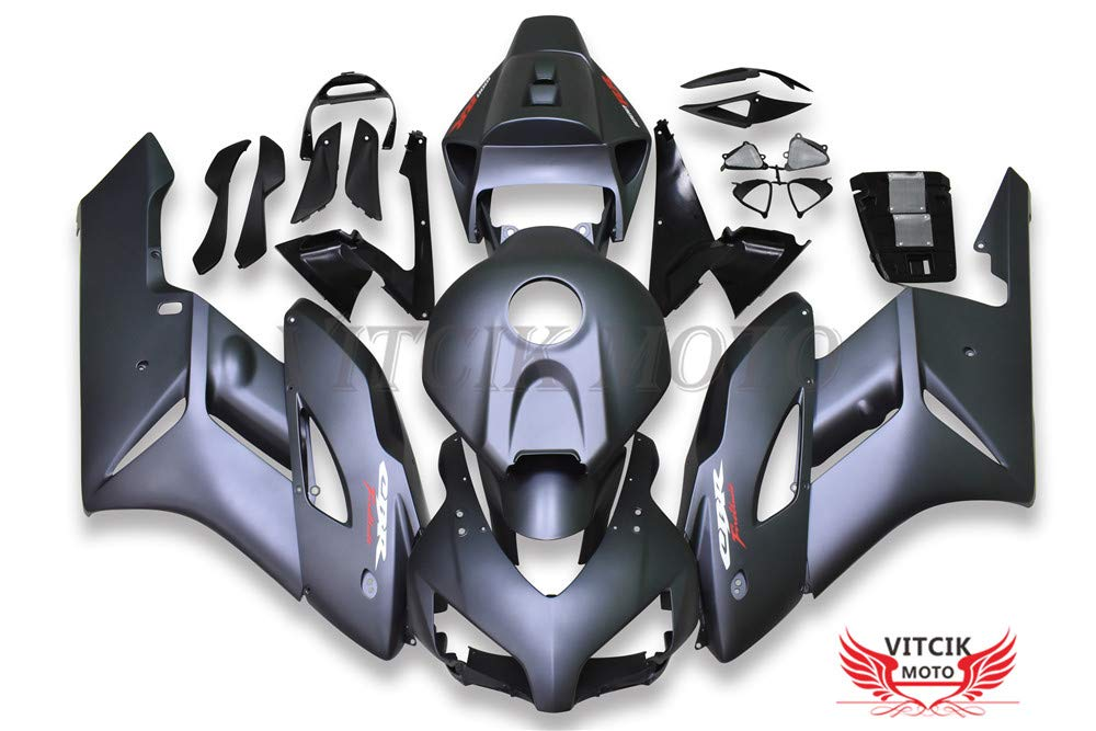 VITCIK (フェアリングキット 対応車種 ホンダ Honda CBR1000RR 2004 2005 CBR1000 RR 04 05) プラスチックABS射出成型 完全なオートバイ車体 アフターマーケット車体フレーム 外装パーツセット(グレー) A148   B07FZ4M1WY