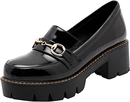 Pumps Chunky Heel Loafers Shoes