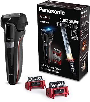 Panasonic ES-LL41-K503 Afeitadora, Recortadora y Perfilador Todo en Uno, Wet&Dry, 3 Cuchillas, Accesorio TRIMMER, Modo Turbo, Indicadores LED, Motor Lineal 13.000 ...