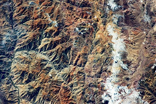 - Posterazzi Satellite View of Andes Mountain Range in San Juan Province Argentina Poster Print by Panoramic Images (36 x 24) Varies