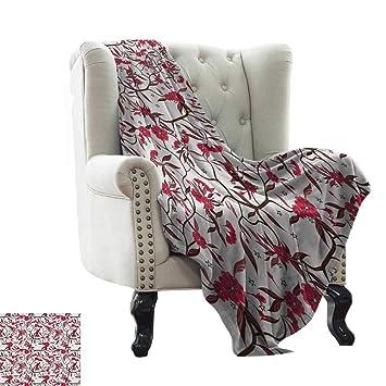 Amazon.com: Manta de viaje de color rojo y marrón, patrón de ...
