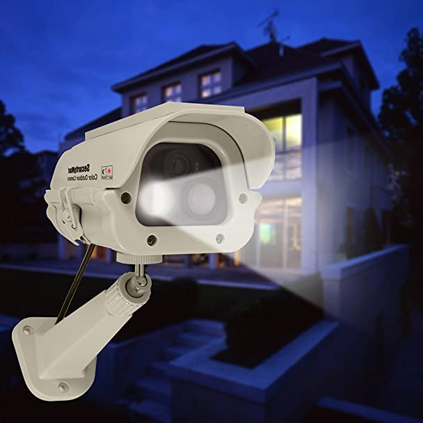 Amazon.com: SecurityMan® Solar Powered IR Weatherproof Fake Dummy Surveillance Camera w/ LED: Electronics