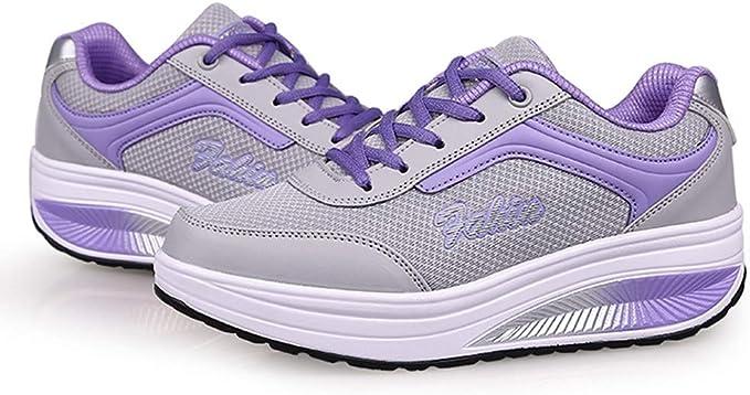 Zapatillas Running de Estudiante Sneakers Fitness, ZARLLE Zapatillas de Mujer, Zapatos de Corriendo, Calzado Casual y Deportivo Malla Exterior Informal con Amortiguador De Aire De Suela Gruesa: Amazon.es: Ropa y accesorios