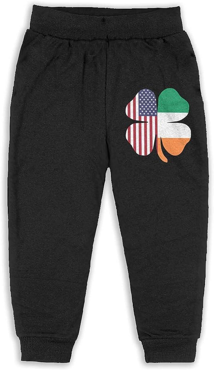 ELCW37K Kids /& Toddler Pants Soft Cozy Baby Sweatpants American Irish Flag Shamrock Fleece Pants Jogger Pants