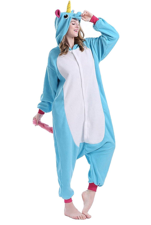 Pigiama Unicorno Animali Tuta Costume Carnevale Halloween Festa Cosplay per Regalo per Ragazza per Adulti Unisex Costumi e Travestimenti