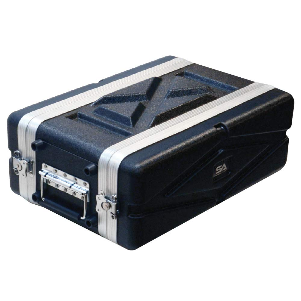 Seismic Audio - SALWR3S - Lightweight 3 Space Compact ABS Rack Case - 3U PA DJ Amp Effects Shallow Rack Case