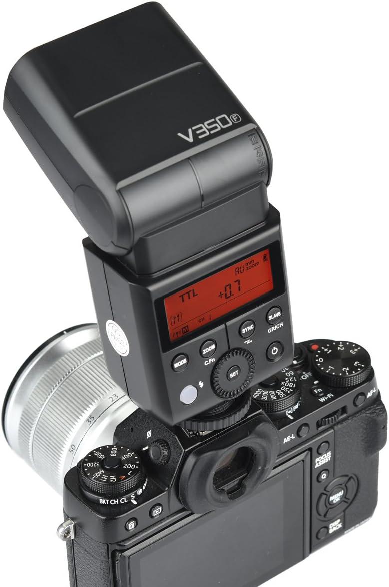 Godox V350F TTL HSS 1//8000s Speedlite Flash Speed Return 0.1-0.7s Built-in 2000mAh Li-ion Battery with X1T-F Trigger Compatible for Fuji Fujifilm