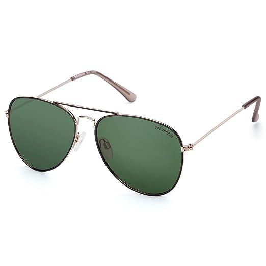 8f271d6d3bb Classic Aviator Sunglasses For Men Women Mirrored Lens Metal Frame Retro  Eyewear(Black Frame