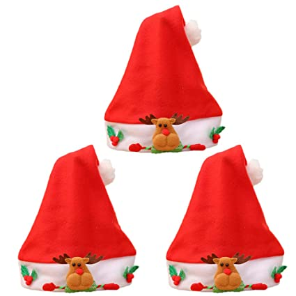 4f8ed6f1a2d59 Image Unavailable. Image not available for. Color  BESTOYARD 12PCS Child  Cartoon Christmas Hat ...
