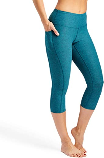 Womens Pocket Workout Stretch Yoga Leggings Tight Yoga Fitness Running Crop Pants