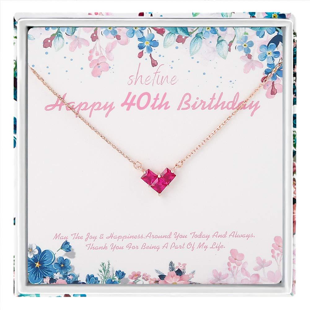 shefine 40 cumpleaños regalos para mujer - Collar de plata ...