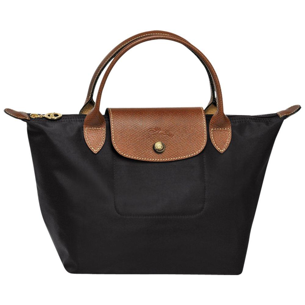 0e1ddb3cb783 Amazon.com  Longchamps Le Pliage Small Shoulder Tote Bag Black  XIONGlian