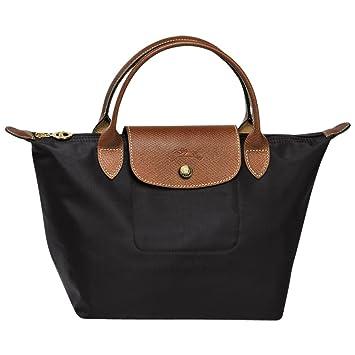 672bacef77d Amazon.com  Longchamps Le Pliage Small Shoulder Tote Bag Black  XIONGlian
