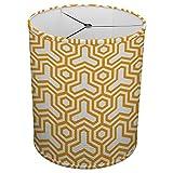 Hardback Linen Drum Cylinder Lamp Shade 8'' x 8'' x 8'' Spider Construction [ Yellow Holy Trinity ]