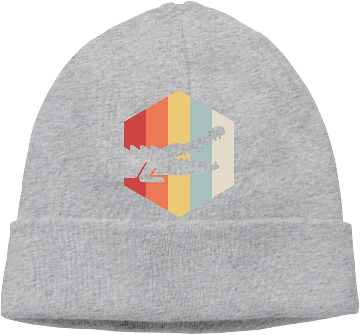 Q10 Mens/&Womens Retro 70s Alligator Soft Knit Beanie Caps Soft Hat