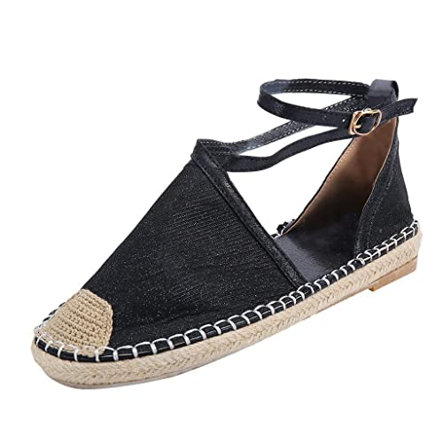 5915a4932bc25 Amazon.com: Bohelly ♚♚ Women Straw Round Toe Flat Casual Sequin ...