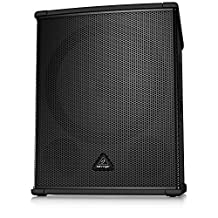 Behringer B1800HP EUROLIVE High-Performance PA Subwoofer with Turbosound Speaker and Stereo, Black