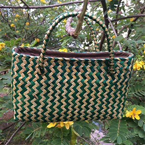 Retro A Version Donna Of Seaweed Seoul Bobonini Viaggio Per Thai Maglia Hand Mi Borsa Hong Pure Handbag woven Da Lv 5qgvp84wvx