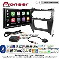 Volunteer Audio Pioneer AVH-2440NEX Double Din Radio Install Kit with Apple CarPlay, Android Auto and Bluetooth Fits 2012-2013 Toyota Camry with Amplified System