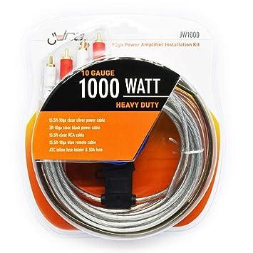 Juice JW1000 1000 watts amp wiring kit high power: Amazon co