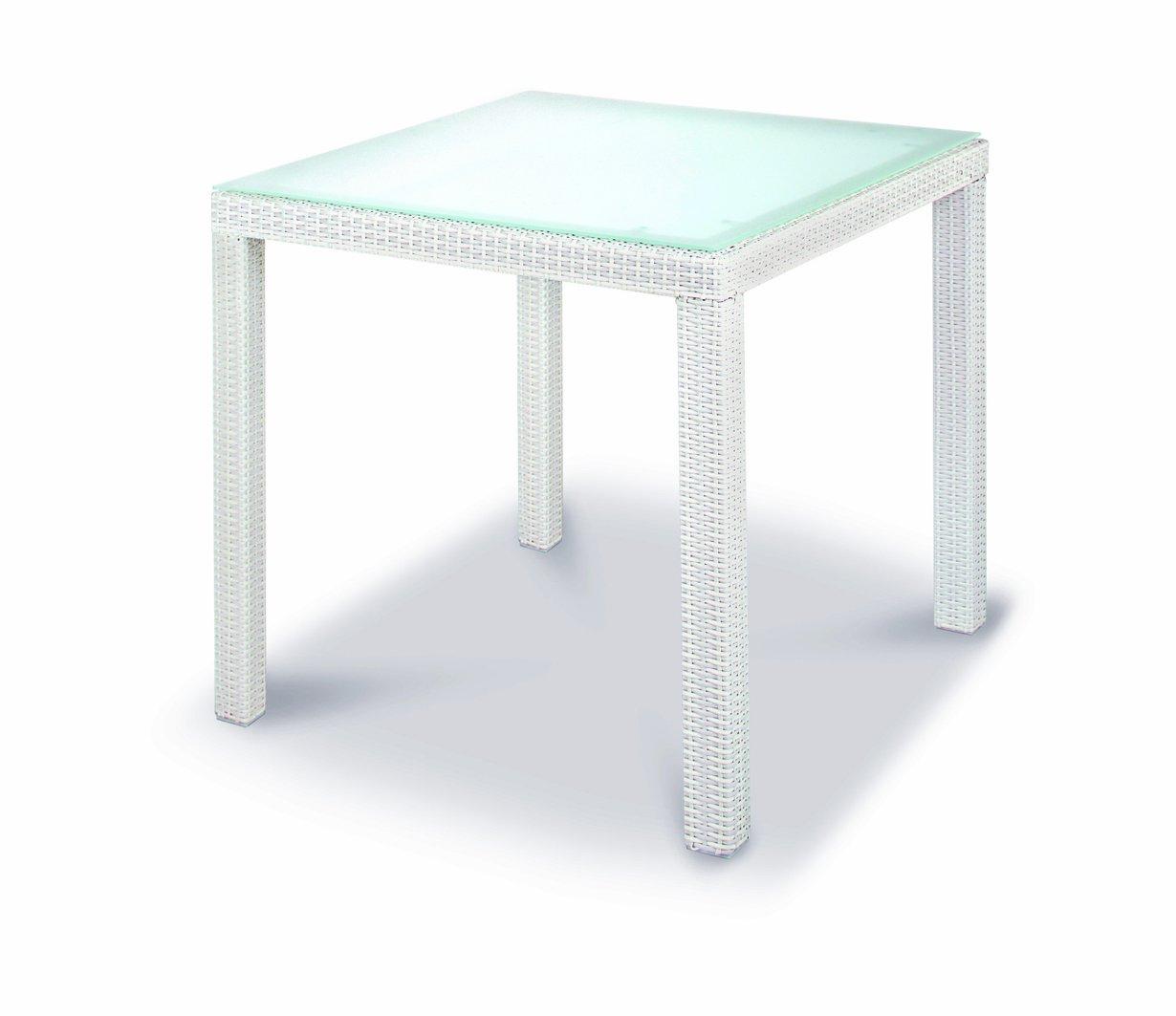 Best 42559000 Tisch Samoa quadratisch, 90 x 90 cm, weiß