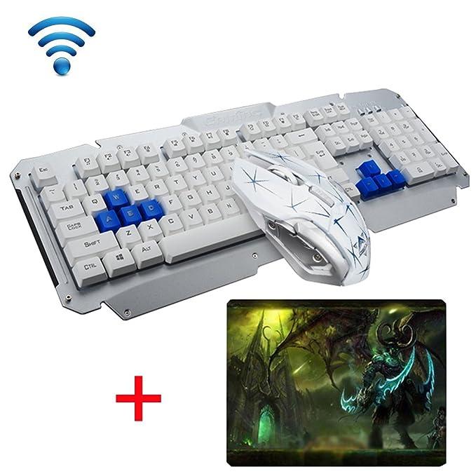 3 opinioni per UrChoiceLtd 2017 HK1600 Tastiera Wireless Tastiera USB Intelligente Gioco Di