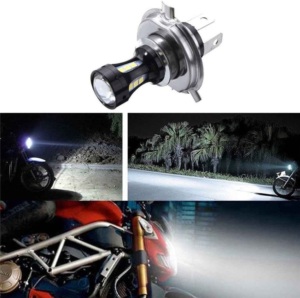 6.74x4.73CM H4 18W Moto 3030 LED ANABBAGLIANTI moto illumina le lampadine CC 12-24V 6500K