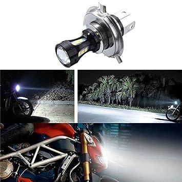 Mengonee 6.74x4.73CM H4 18W LED de la motocicleta 3030 CRUCE Moto Luces de bulbos de lámparas DC 12-24V 6500K: Amazon.es: Coche y moto