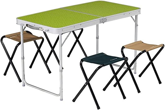 DECATHLON QUECHUA 4 plazas mesa de CAMPING plegable 4 BUILT-IN plazas verde: Amazon.es: Deportes y aire libre