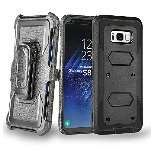 Samsung Galaxy S8 Case,Jessica Shell Series Heavy Duty Kickstand Feature Swivel Slim Belt Clip Holster Armor Combo Protective Case Defender Cover for Samsung Galaxy S8 2017 Released