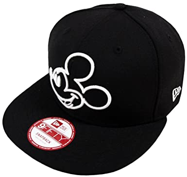 767b36e2eb121 New Era Mickey Mouse OU Black Snapback Cap 9fifty M L Limited Edition Disney
