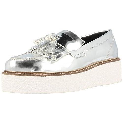 Mocasines para Mujer, Color Plateado, Marca YELLOW, Modelo Mocasines para Mujer YELLOW CUZCO Plateado: Amazon.es: Zapatos y complementos
