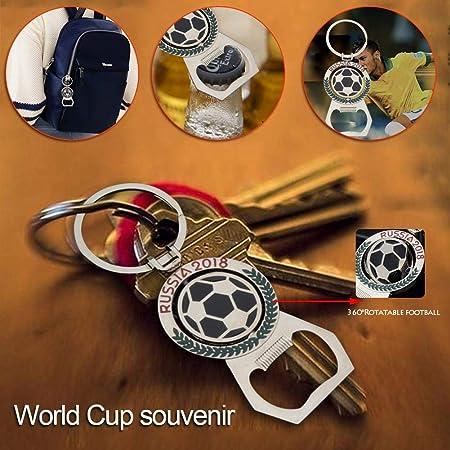 Foresttwood 2018 World Cup - Llavero con abrelatas, Multifuncional, Giratorio, diseño de futbolín: Amazon.es: Hogar