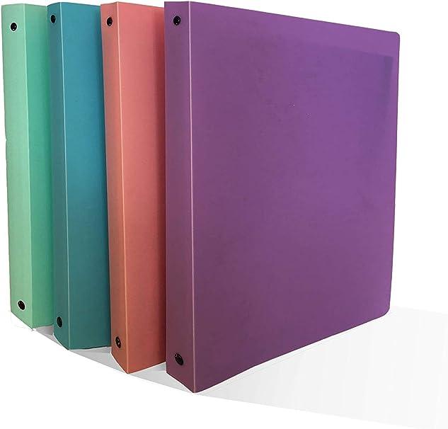 Ocean´s Wave OCW20064 - Pack de 12 carpetas con anillas, color pastel: Amazon.es: Oficina y papelería