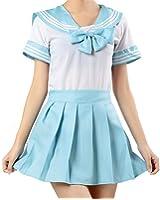 WenHong Japan School Uniform Dress Cosplay Costume Anime Girl Lady Lolita