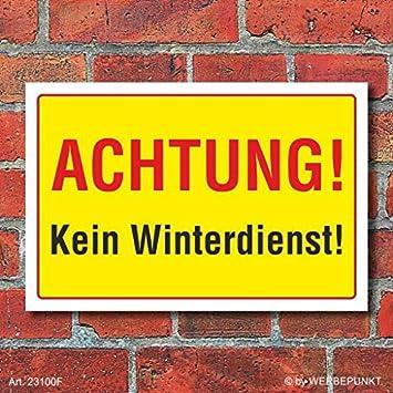 3 mm Alu-Verbund Schild Kein Winterdienst