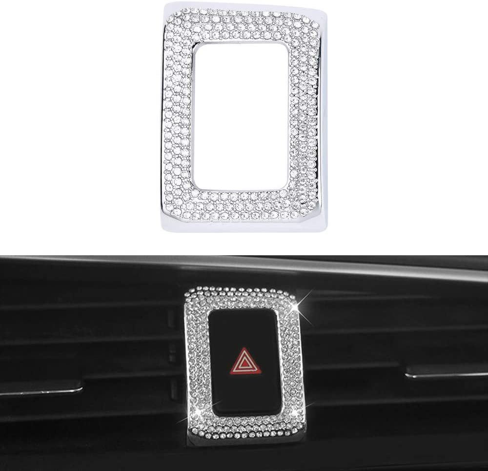 LECART for Honda Civic Interior Accessories Bling Warning Light Decoration Frame Covers Metal Decor Trim Compatible for Honda Civic Coupe Hatchback Type R