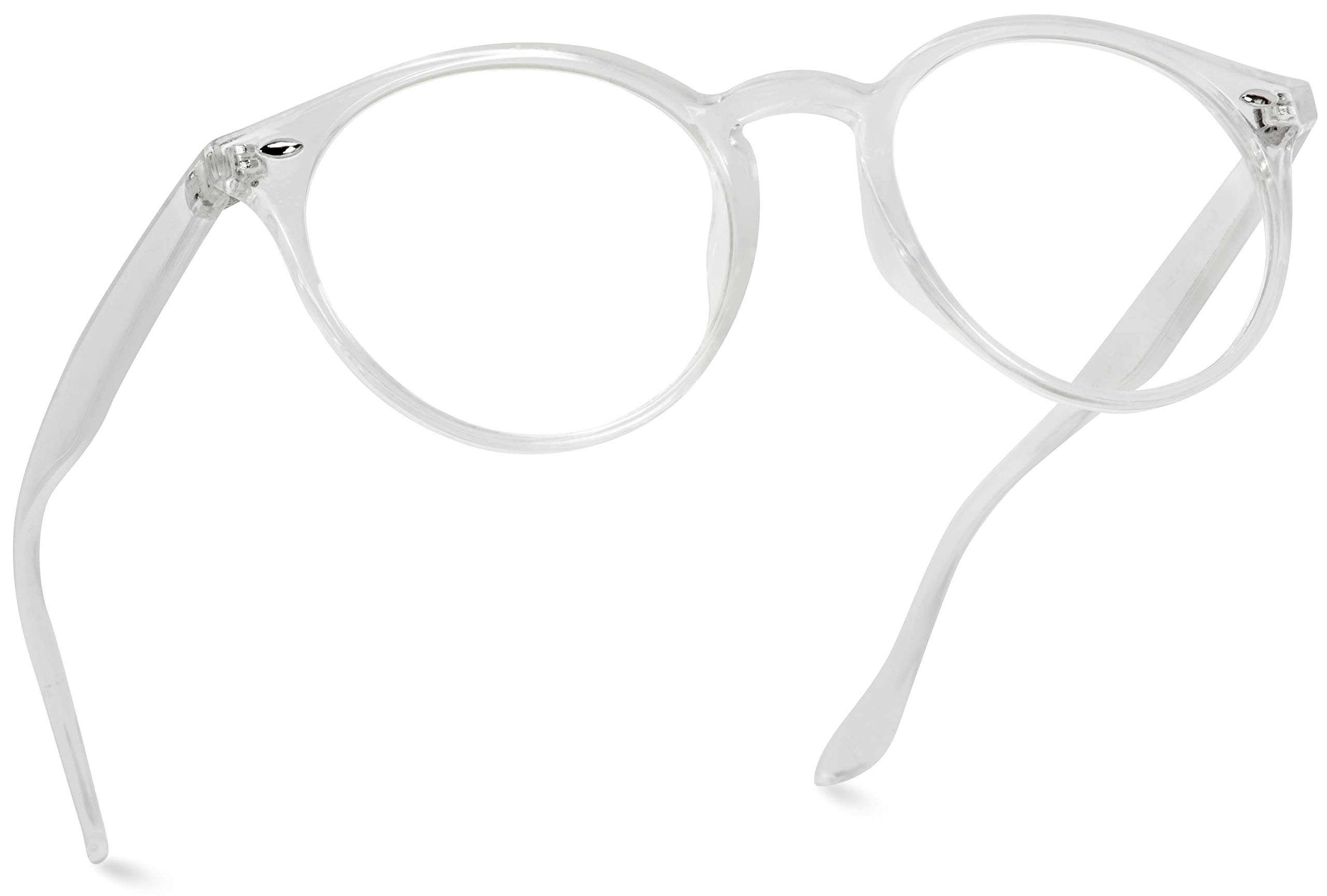 WearMe Pro - Transparent Clear Frame Round Hipster Glasses by WearMe Pro