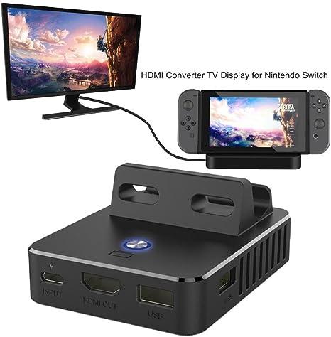 wokee TV HDMI convertidor para Switch, TV Switch estación de carga MINI carga HDMI convertidor de TV pantalla para Nintendo Switch: Amazon.es: Deportes y aire libre