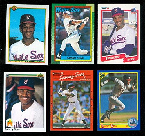 6 1990 Topps Upper Deck Fleer Score Bowman Donruss Sammy Sosa Rookie Card Lot RC