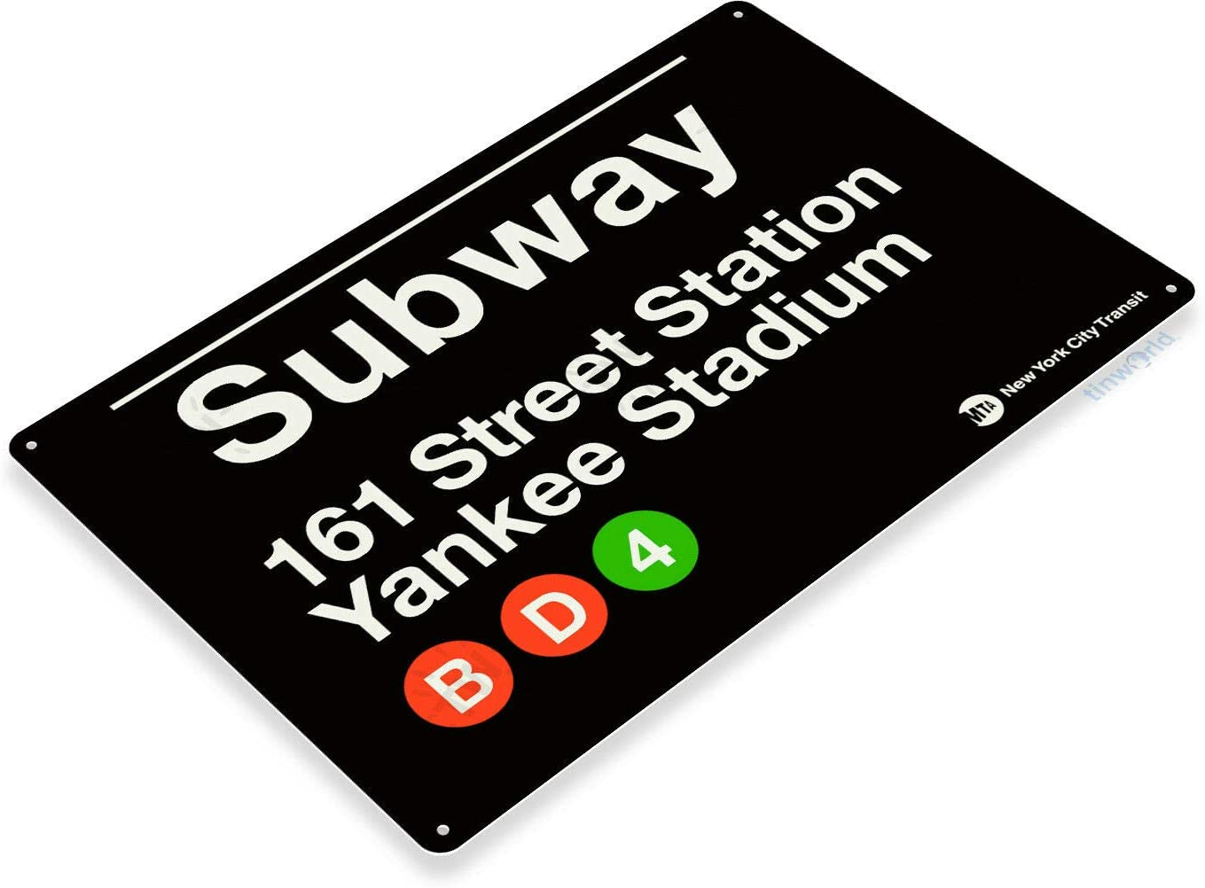 SRongmao Yankee Stadium New York Street Subway 161 Retro Wall Bar Decor Metal Tin Sign 8x12in