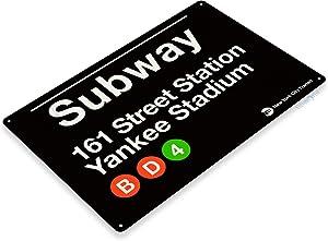 SRongmao Yankee Stadium New York Street Subway 161 Retro Wall Bar Decor Metal Tin Sign 8x12in