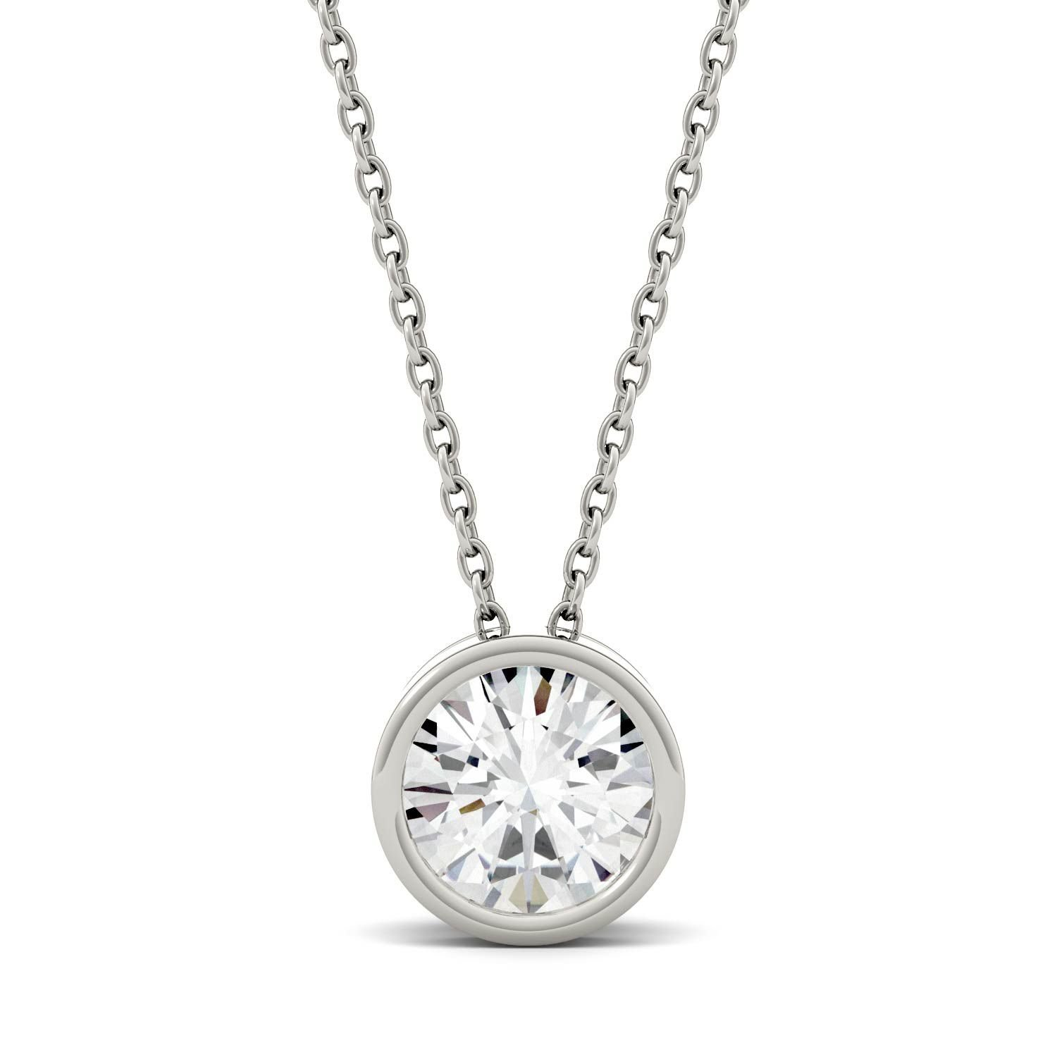 moissanite one by necklace forever white src round gold detachable bezel p prod and com annello kobelli chai pendant ostkcdn