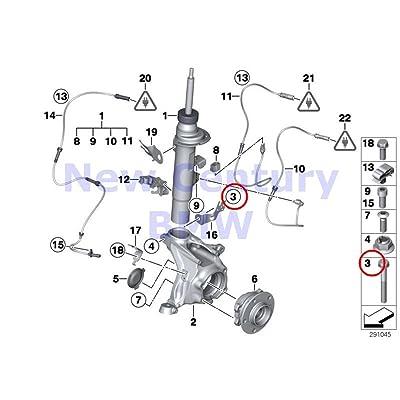 2 X BMW Genuine Front Axle Suspension Hex Bolt M12X1.5X82-10.9 X3 28dX X3 28i X3 28iX X3 35iX X4 28iX X4 35iX X4 M40iX: Automotive