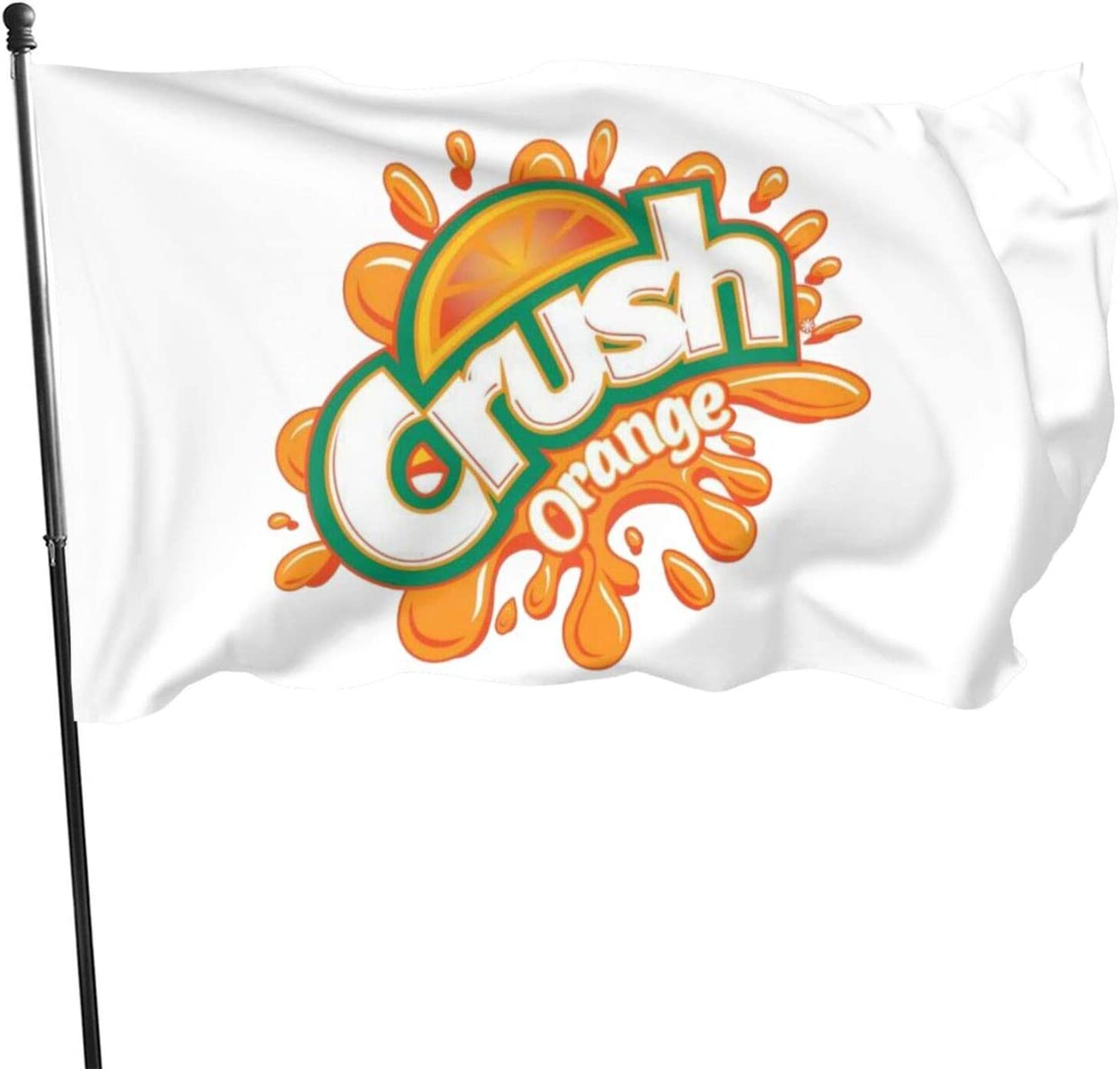 Guoguoding Orange Crush Garden Flag Set for Outdoors 3x5 Ft