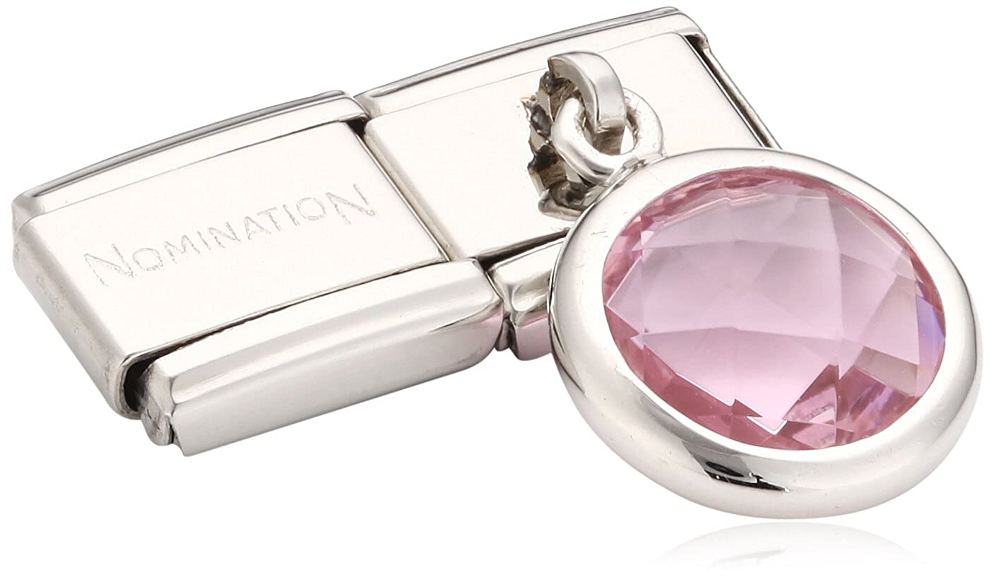 Nomination 031713/003 - Maillon pour bracelet composable Femme - Acier Inoxydable- Oxyde de Zirconium 031713-003