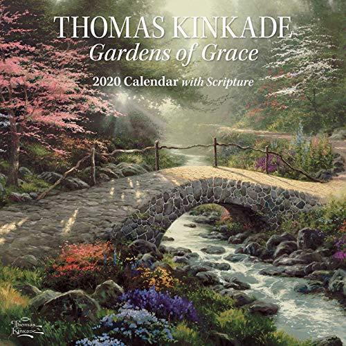 Garden Calendar - Thomas Kinkade Gardens of Grace with Scripture 2020 Wall Calendar