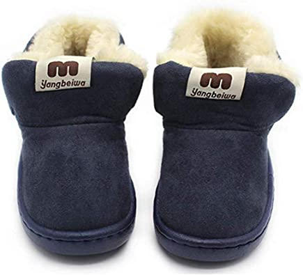 Unisex Baby Boys Girls Soft Anti-Slip Sole Sneakers Winter Thick Snow Boots Casual Shoes