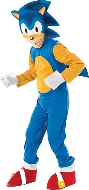 95c154d26 Rubie's - Sonic el Erizo, Traje para niños de 5-6 años (disfraz)